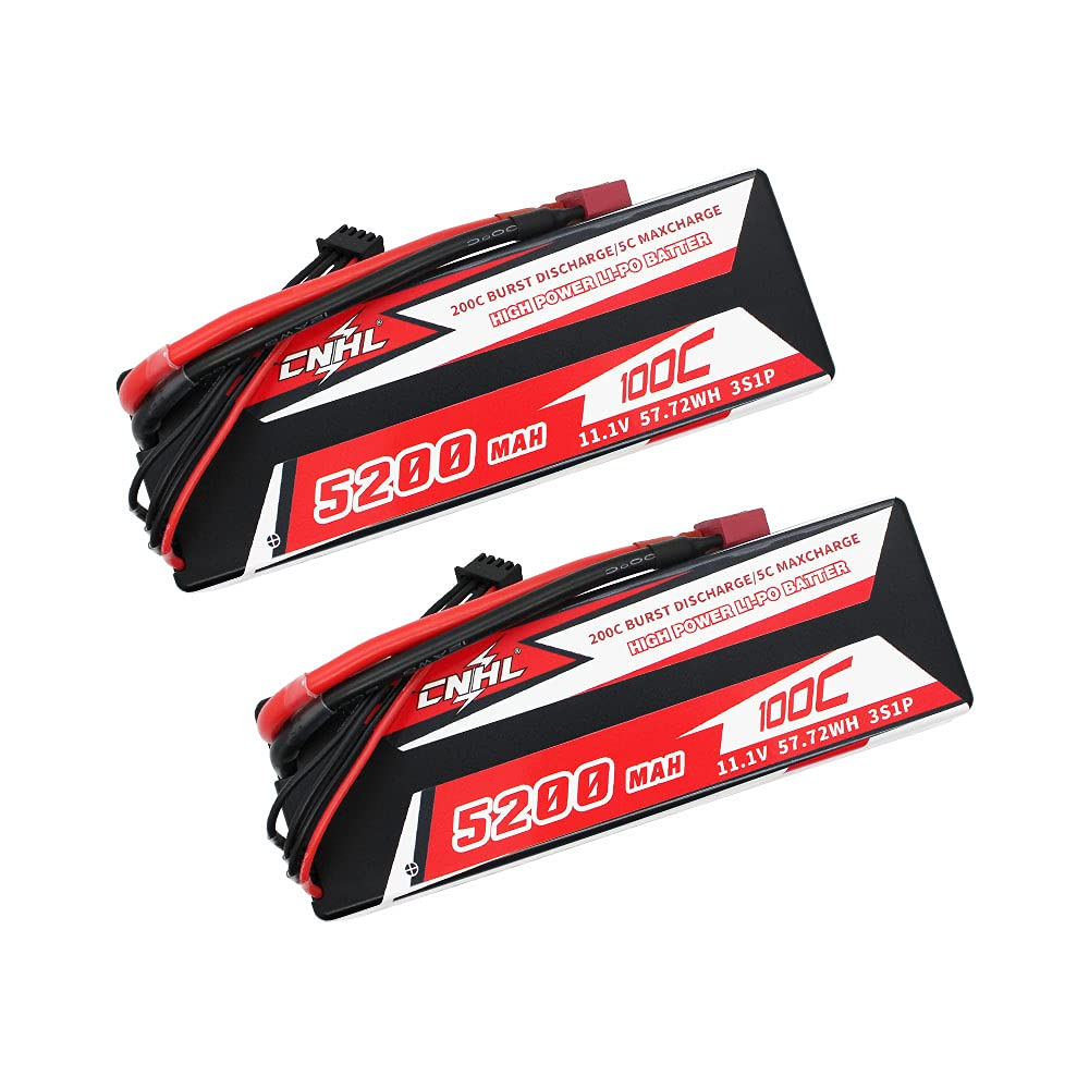 2 Baterias LIPO 11.1V 5200mah 100C 3S T Plug CNHL