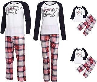 fe7982e98f Matching Family Pajamas Cartoon Tops Plaid Pants Christmas Pajamas Sets  Patchwork Xmas Pajamas Set Sleepwear for