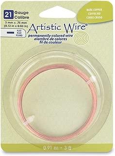 Beadalon 21-Gauge Jewelry Artistic Wire/Flat Wire, 3-Feet, Copper