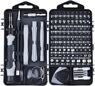 Wotass Mini Precision Screwdriver Set, 119 in 1 Magnetic Screwdriver Bit Set, Computer Repair Tool Kit with Case for Mac, Laptop, Phone, Watch, Glasses, Electronics