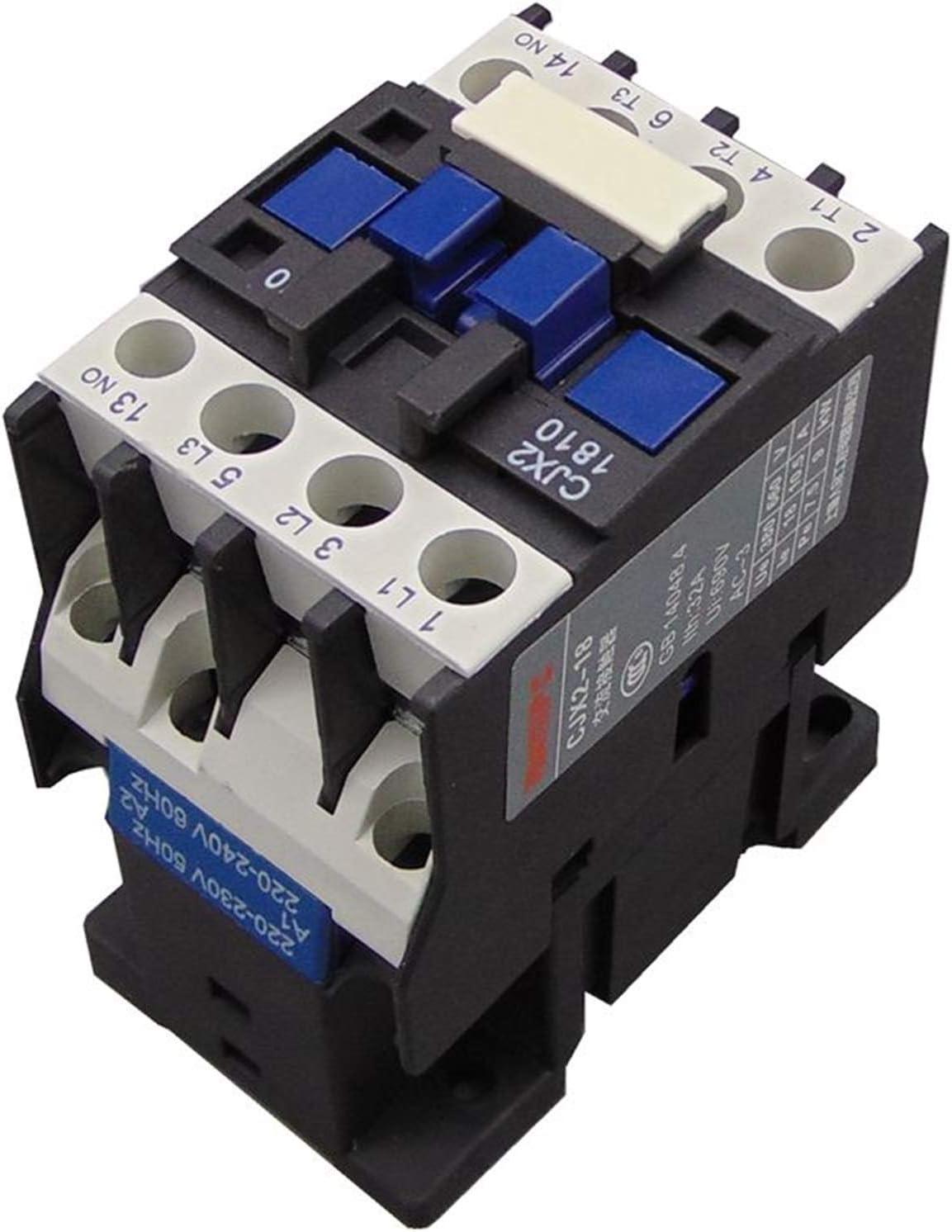 Contactor,Contactor De Ca del Hogar Contactor 18A Interruptores LC1 CA Contactor Voltaje 380V 220V 110V 36V 24V Contactor De Ca (Color : AC110V)