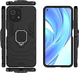 QiongNi Case for Xiaomi Mi 11 Lite Case Cover,Case for Xiaomi Mi 11 Lite 5G Case Cover,Magnetic Car Mount Bracket Shell Ca...