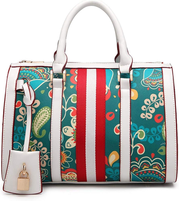 fd143203a2efa Frauen Handtasche Handtasche Handtasche n auml hen Kontrast Boston Tasche  Mode wild umh auml ngetasche gro szlig e kapazit auml t Damen  umh auml ngetasche ...