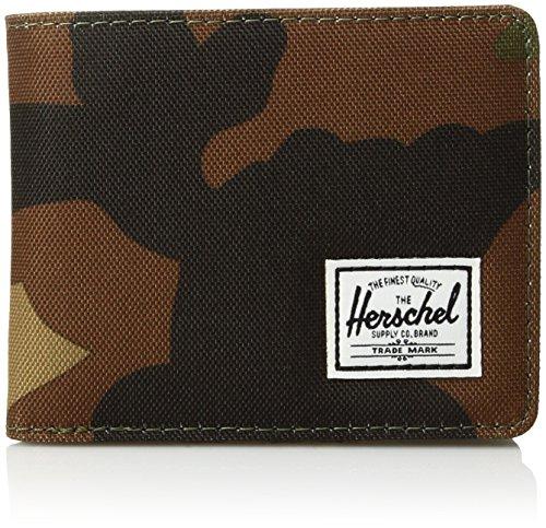 Herschel Roy Coin RFID Wallet Portafoglio, woodland camo