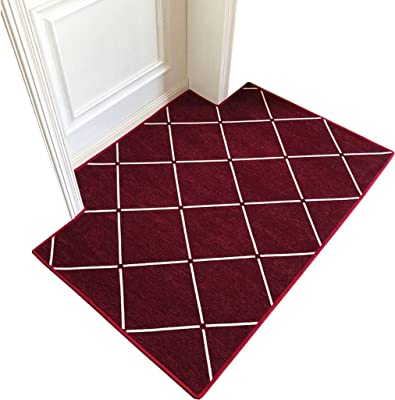 Doormat Door mats Home mats/Carpets Carpets Beside The Bed Stylish Non-Slip mats Foot-to-Door mats Bedroom doormats Soft and Comfortable (Color : Red, Size : 120 * 180cm)