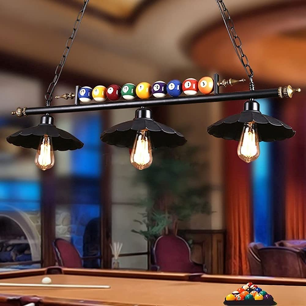 3 Luces Isla Ligero Piscina Mesa Luz Rústico Colgante Piscina Mesa Techo Iluminación Fixtures Billar Mobiliario y Piscina Luces de Mesa Campañía Cocina Juego Sala de Juego Iluminación
