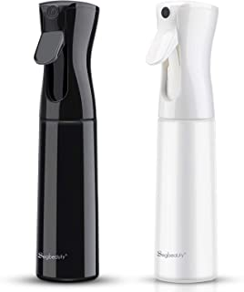 2 Pack Curly Hair Spray Bottle, Segbeauty 360ml Empty Continuous Fine Mist Spray Bottle, 12.2oz Professional Hair Salon St...