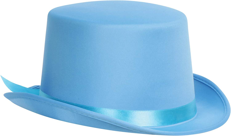 Light Blue Felt Top Hat Avec Satin Bande muet et dumber Smoking Costume Film
