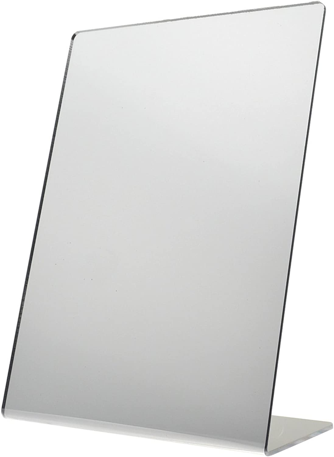 Marketing Holders Free Standing Mirror Slant Back Self-Portrait Counter Mirror - 8 1 2 x 11 inches Lot of 5