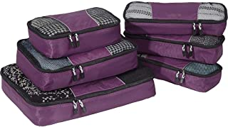 eBags Classic Packing Cubes for Travel - 6pc Value Set - (Eggplant)