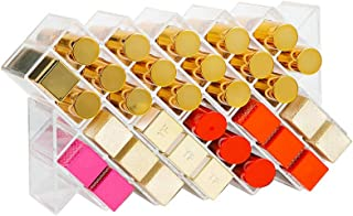 Clear Acrylic Fish Shape Lipstick Organizer Tower, Lip Gloss Storage Holder Stand for 16 Lip Sticks, Perfect for Makeup Co...