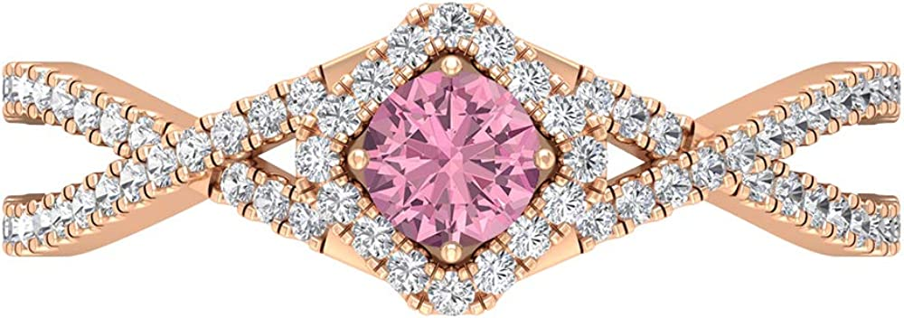 Tourmaline Max 42% OFF and Tucson Mall Diamond Ring Solitaire Gold Halo Engagemen