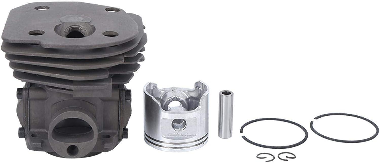 Kit de Pistón Cilindro de 45mm, Conjunto de Pistón Cilindro para Motosierra 353 H353, Incluye Cilindro, Pistón, Pasador Cilíndrico, Anillo de Pistón, Anillo de Seguridad