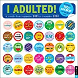 I Adulted! 16-Month 2021-2022 Wall Calendar: Stickers for Grown-Ups
