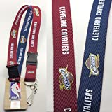 Pro Specialties Group NBA Cleveland Cavaliers Two Tone Lanyard with Detachable Key Ring and Breakaway Safety Closure