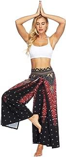 Women Casual Loose Printed Yoga Trousers Baggy Boho Aladdin Jumpsuit Harem Pants