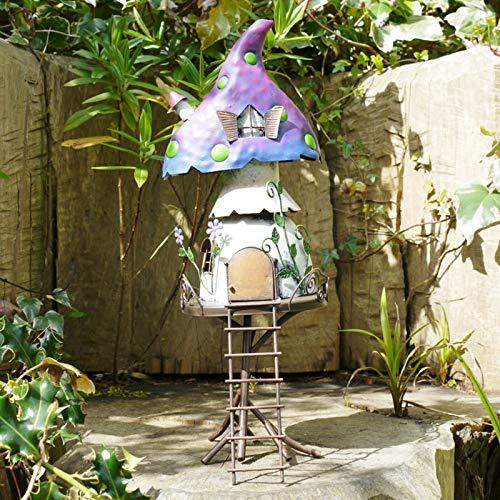 Darthome Ltd Metal Pixie - Figura Decorativa de Hada para jardín o Patio