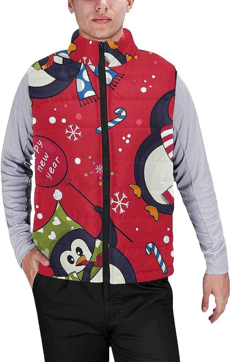 InterestPrint Men's Lightweight Outwear Vest for Hiking, Fishing Peacock Pattern