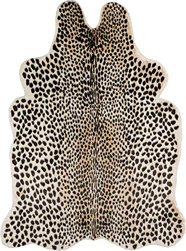 Faux Cheetah Area Rug Animals Printed Hide Mats Leopard Faux Hide Area Rug 5.2ft x 6.5ft/ 63 x 78.7inch / 160 x 200cm