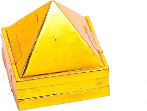 STYLE OK Brass Vastu Pyramid That Spreads Positive Vibes, 3 Layer Metal Pyramid for Home & Office Feng Shui Products Nort...