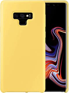 DEVMO Phone Case Compatible with Samsung Galaxy Note 9 Liquid Silicone Phone Case Gel Rubber Full Body Protection Shockproof Cover Case Drop Protection Yellow