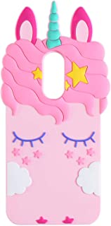 TopSZ Pink Unicorn Case for Samsung Galaxy J7 Refine,J7 Aero,J7 Star,Silicone 3D Cartoon Animal Cover,Kids Girls Teen Animated Cool Fun Cute Kawaii Soft Rubber Funny Unique Character Cases for J7 2018