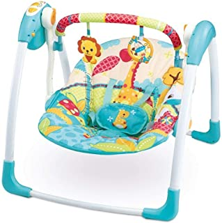 Portable Deluxe Automatic Swing Giraffe Bouncer with Toys Newborn Gear