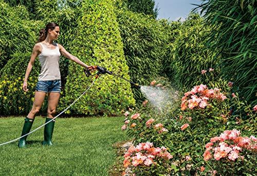WORX 20V Mobiler Akku-Hochdruckreiniger Hydroshot WG625E.1, 2x2.0Ah Akkus, PowerShare, Bewässerung, Reinigung & Desinfektion, 1 Std. Ladegerät, 5-in-1 Sprühdüse, 6m Schlauch, faltbarer Wassereimer,18V - 5