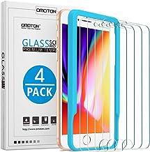OMOTON [4 Pièces] Verre Trempé pour iPhone 7/8/6s/6 Film Protection Ecran, [Ultra Clair] Protecteur D'écran Compatible avec iPhone 7/ iPhone 8/ iPhone 6S/ iPhone 6