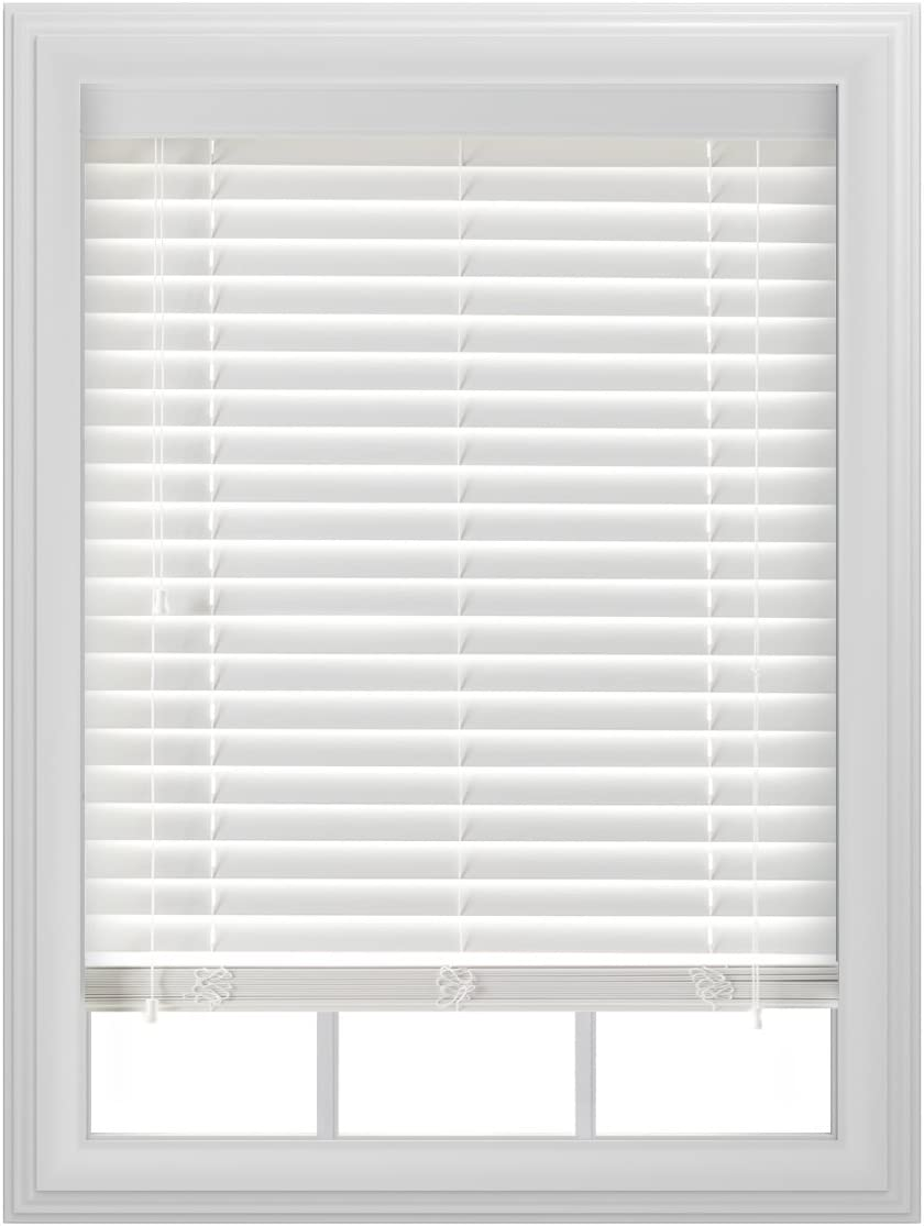 Amazon Com Bali Blinds 2 Faux Wood Corded 29x64 White Home Kitchen