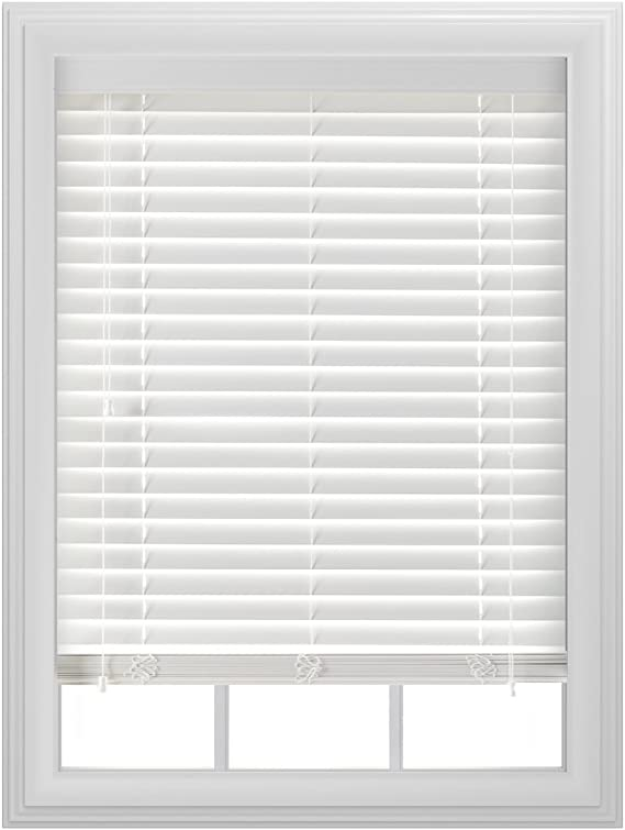 bali blinds 2 faux wood corded 39x64 white