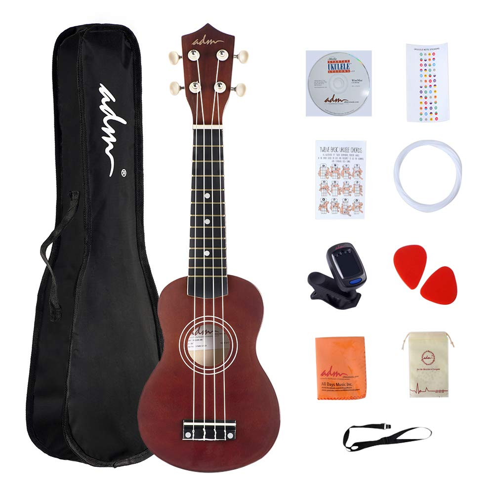 Beginner Ukulele Soprano Wooden Bundle