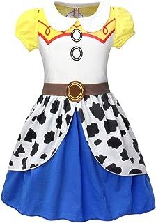 Jasmine Jessie Anna Snow White Costumes Princess Dress Halloween Cosplay Birthday Party Outfit