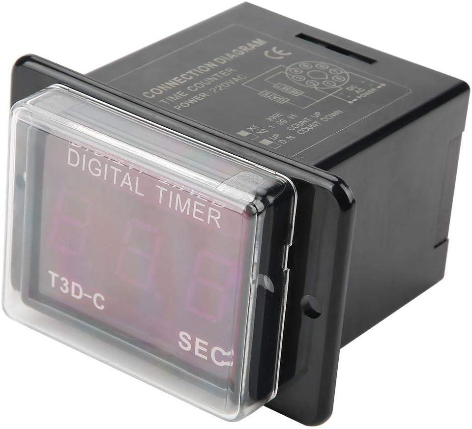 GUOSHUCHE Relay Time T3D-C Digital 99.9 LED 999 Timer mart Miami Mall SEC