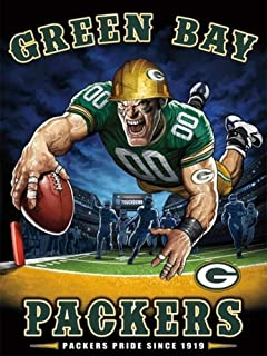 DIY 5D Diamond Painting Kits for Adults Beginner Gift for NFL Green Bay Packers Team Home Wall Decor 11.8x15.8 in