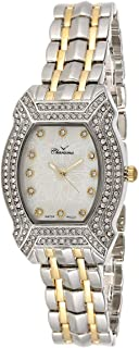 Charisma Women's White Dial Yellow Gold Plated Band Watch - 6621