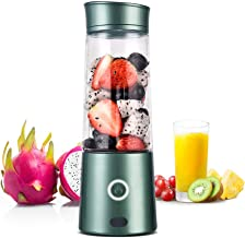 Kacsoo Portable Smoothie Blender, M650 USB Blender for Shakes and Smoothies, Fruit Mixer Juicer Cup, Multifunctional Single Serve Personal Travel Blender, with 5200 mAh Rechargeable Battery, FDA BPA Fre (Green)