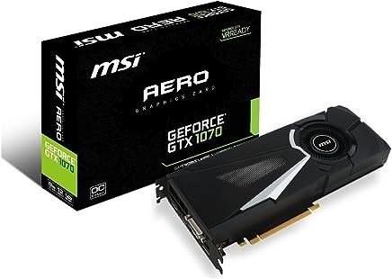 MSI GeForce GTX 1070 AERO 8G OC Video Card 8GB GDDR5, DirectX 12, VR Ready