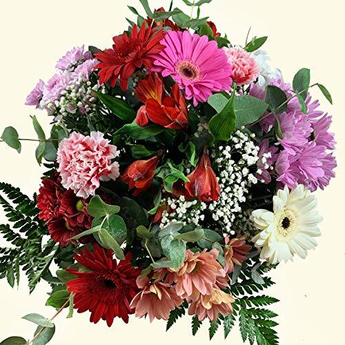 Ramo de flores frescas variadas de la mejor calidad. Entregamos de lunes a sábado. Sólo días laborales, no festivos. NO DOMINGOS. Para entregas en LUNES, es necesario realizar el pedido antes del sábado a las 10h. Haz tu pedido antes de las 17h y rec...
