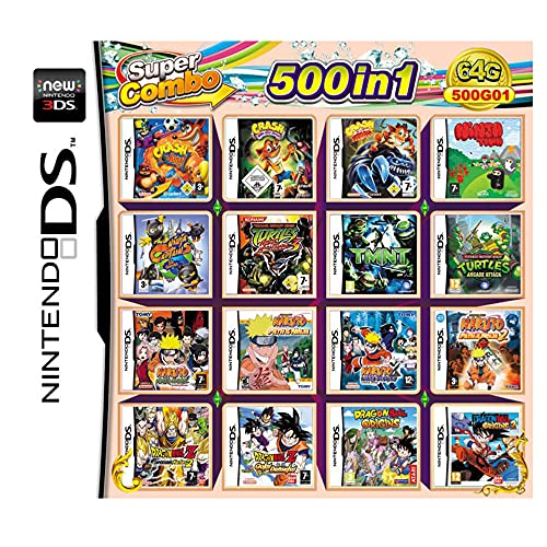 500 Spiele in 1 NDS Game Pack-Karte Super Combo Multi-Cartridge für DS NDS NDSL NDSi 3DS LL/XL