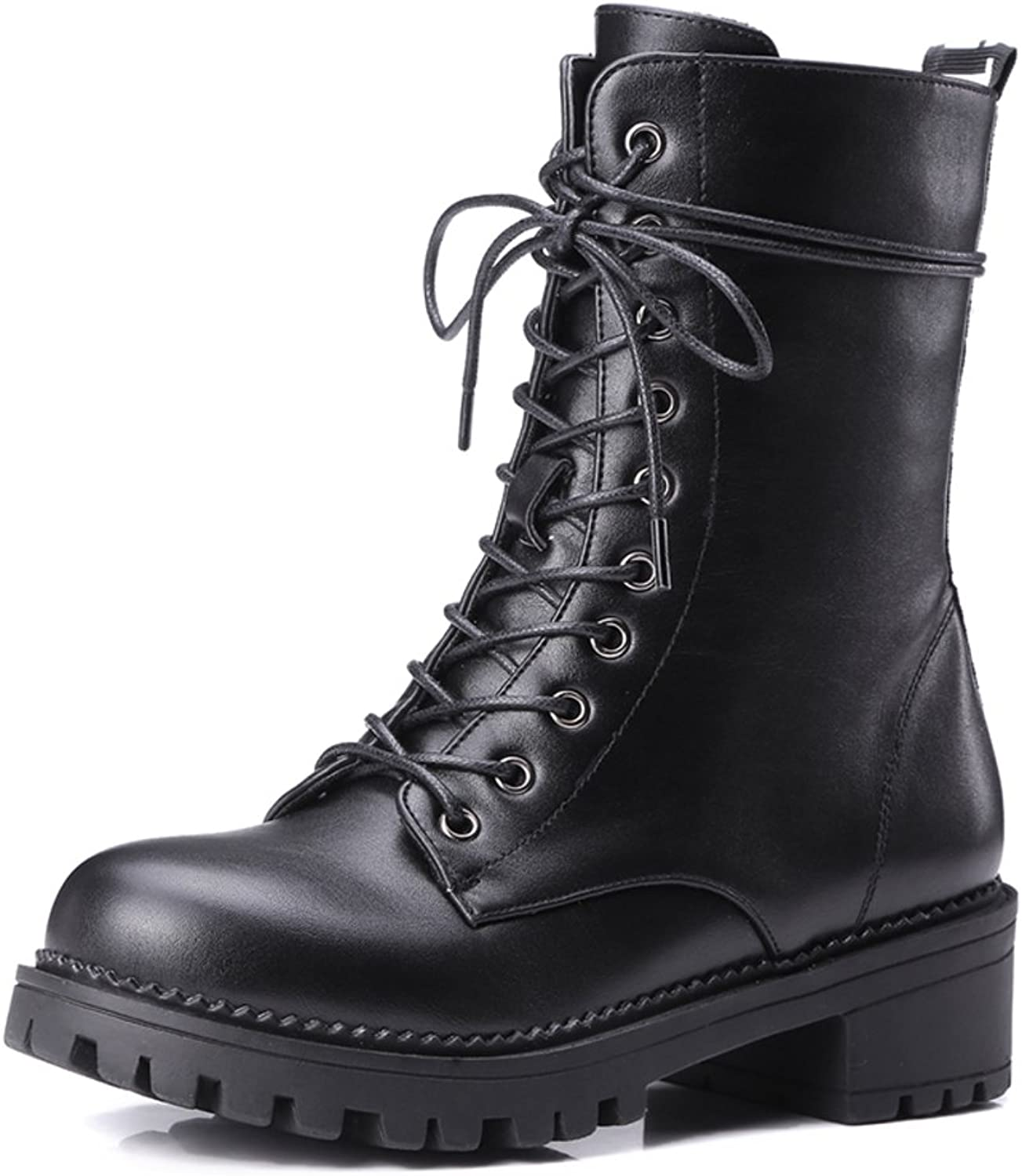 RHFDVGDS Thick-soled platform boots in autumn and winter casual ladies Martin boots