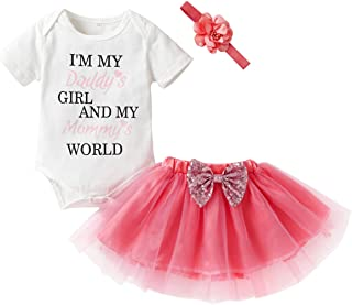 41e2a31d998 Newborn Infant Kids Baby Girls Outfits Set Letter Romper Tops+Tutu Skirt +Headband