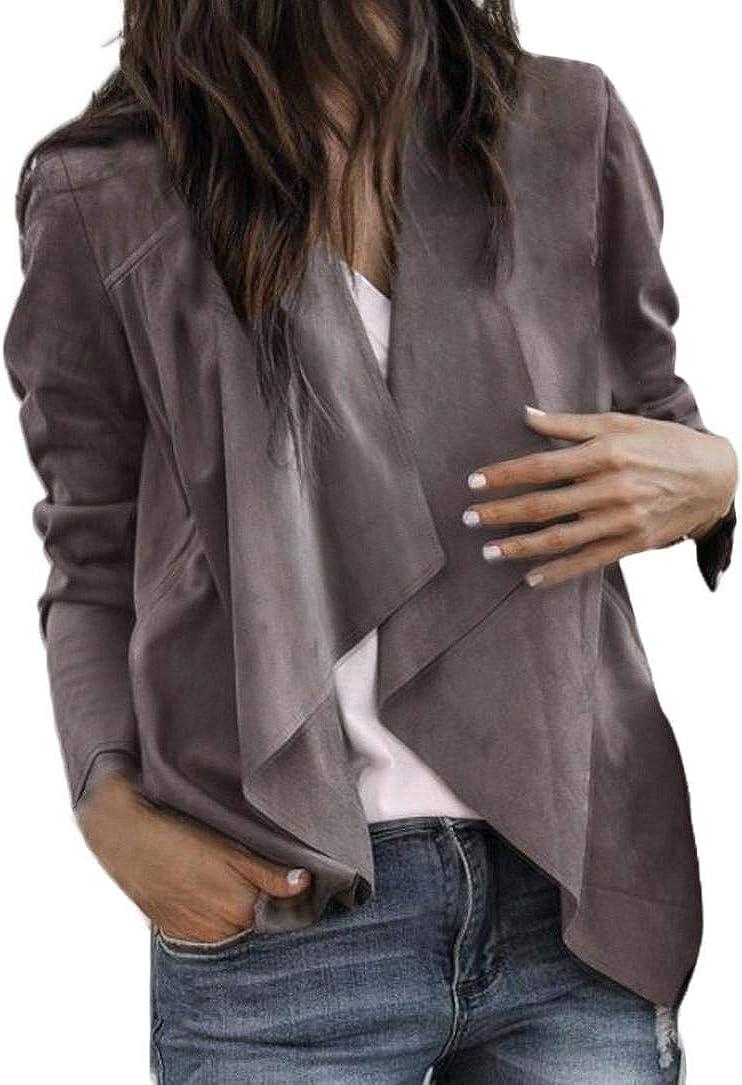 2018 Autumn Women Faux Suede Leather Suit Regular discount Max 45% OFF Short Jac Duster Style