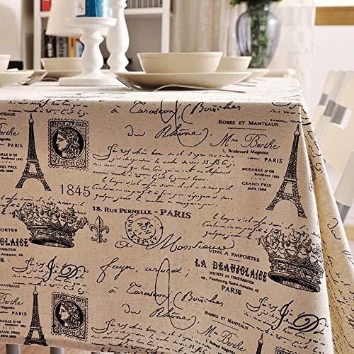 Katoen en linnen, kleine frisse en eenvoudige literaire tafelkleed, krant, tafelkleed, salontafel, tafelkleed, Home Decoration, stof rechthoekige tafelset