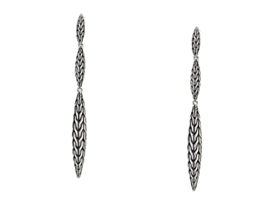 John Hardy Classic Chain Spear Small Drop Earrings (Sterling Silver) Earring