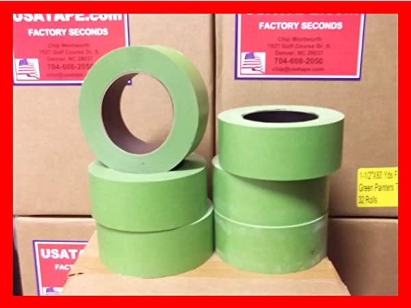 24 Rolls 2 X 60 Green Painters Masking Tape