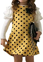 Top Shop Dress FTSUCQ Girls Polka Dot Butterfly Knot Princess Dress