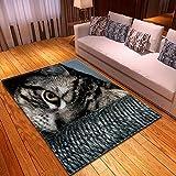 CMYKYUH Alfombra Salon Gato Animal Gris 200 x 300 cm Alfombra De...