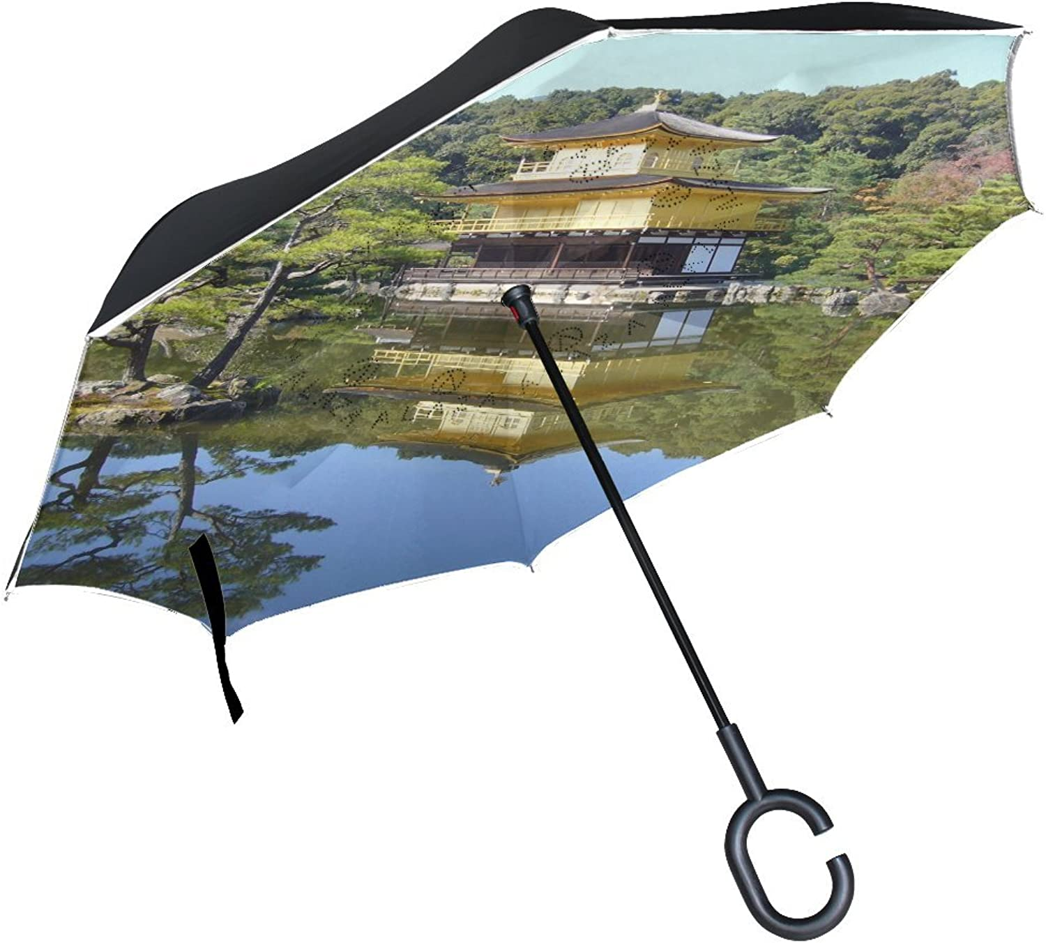 Countriy Japan Kyoto Ingreened Umbrella Large Double Layer Outdoor Rain Sun Car Reversible Umbrella