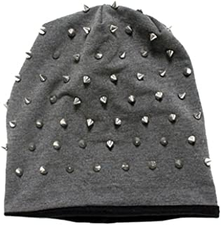 Inked Rocker Studded Knit Beanie (More Options)